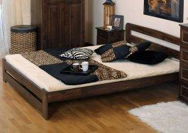 Zvětšit Postel Petra 120 x 200 cm ořech masiv borovice