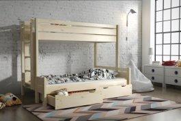 Zvětšit Patrová postel Jarek 90/200 + 140/200 cm + matrace + zásuvky