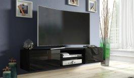 Závěsná TV skříňka 120 cm černá lesk