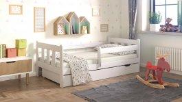 Dětská postel Irma 180x80 cm + šuplík + matrace bílá