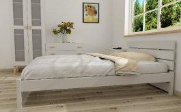 Postel Maxima 180/200 cm masiv borovice + rošt - bílá
