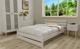 Zvětšit Postel Maxima 180/200 cm masiv borovice + rošt - bílá