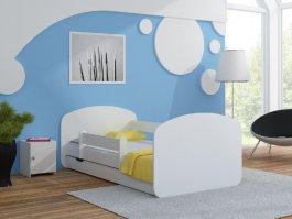 Postel Milano 200x80 cm + šuplík + matrace bílá