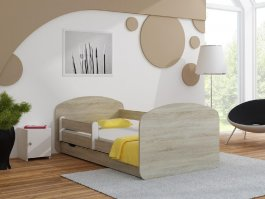 Postel Milano 200x80 cm + šuplík + matrace sonoma