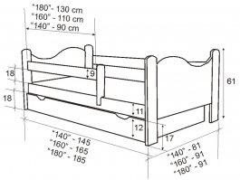 Postýlka Bohoušek 160/80 cm bílá s matrací a šuplíkem