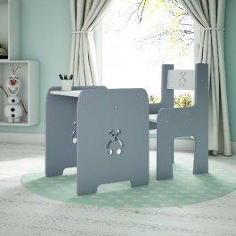 Stůl a židle méďa šedá
