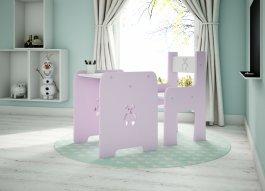 Stůl a židle méďa růžová