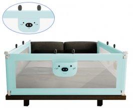 Zábrana na postel Méďa - 160 cm zelená