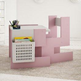 Stůl a židle model S růžová