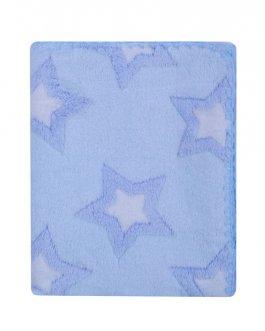 Dětská deka Coral 3D - 80/90 cm modrá