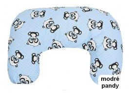 Krmící polštář - modré pandy