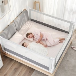 Zvětšit Zábrana na postel Mona 200 cm - šedá