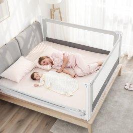 Zábrana na postel Mona 200 cm - šedá