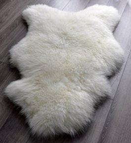 Ovčí kožešina 100% přírodní  90-100 cm bílá