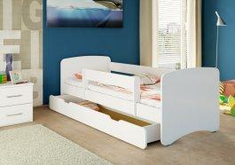 Postýlka Niko 160x70 se šuplíkem a matrací - bílá