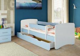Postýlka Niko 160x70 se šuplíkem a matrací - modrá