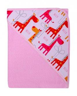 zväčšiť obrázok Detská osuška s kapucí - termofrote růžová 100x100 cm