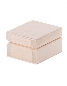 zväčšiť obrázok Krabička drevená 6x6x3,8 cm