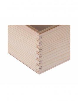 Krabička dřevěná 12,3x19x5,5 cm