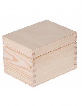 Krabička dřevěná 16x12x11 cm