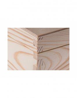 Krabička dřevěná 13,5x13,5x10,7 cm