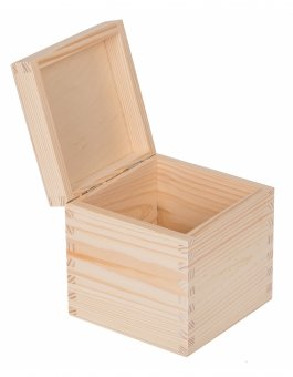 Krabička dřevěná 13x13x13,5 cm