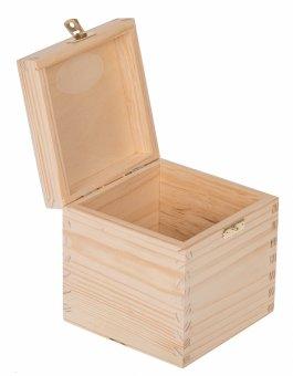 Krabička dřevěná 13x13x13,5 cm - zapínání