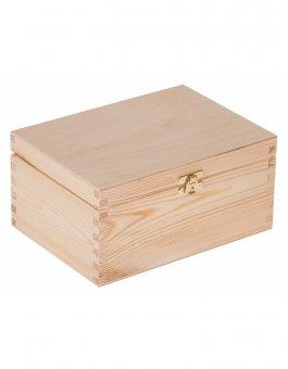 Krabička dřevěná 22x16x10,5 cm - zapínání