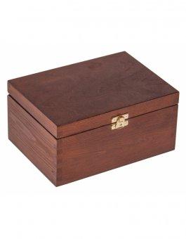 Krabička dřevěná 22x16x10,5 cm - ořech