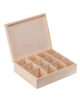 Krabička dřevěná na čaj 22,5x28,5x8 cm