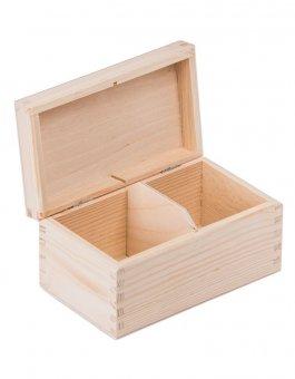 Krabička dřevěná na čaj 9,5x16,5x8 cm