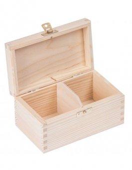 Krabička dřevěná na čaj 9,5x16,5x8 cm zapínaní