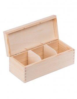 Krabička dřevěná na čaj 9,3x22,5x8 cm