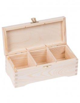 Krabička dřevěná na čaj 10,3x22,1x7,6 cm zapínání