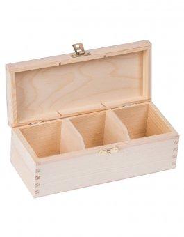Krabička dřevěná na čaj 9,3x22,5x8 cm zapínání