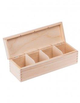 Krabička dřevěná na čaj 9,5x28,5x8 cm