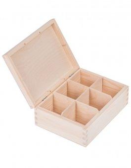 Krabička dřevěná na čaj 16,5x22,5x8 cm