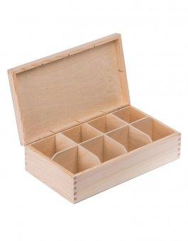 Krabička dřevěná na čaj 16,5x28,5x8 cm