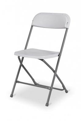 Židle skládací Pavla bílá