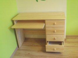 Zvětšit Psací stůl PRIMUS - masiv borovice
