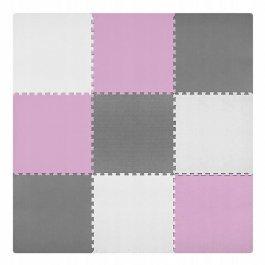 Pěnové puzzle 180x180 cm růžovo-šedá