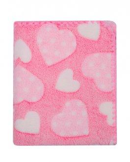 Dětská deka Coral 3D - 80/90 cm růžová