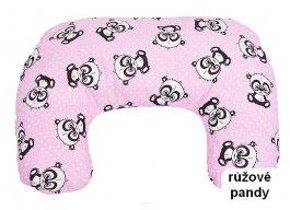 Krmící polštář - růžové pandy