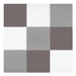 Pěnové puzzle 180x180 cm šedo-hnědá