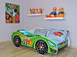 Zvětšit Dětská postel 160/80 cm racing zelený+matrace+dárek
