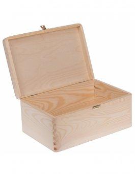 Krabička dřevěná 30x20x14 cm zapínání