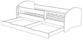 Postel Space N20S 160/80 cm + matrace + šuplík