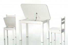 Stůl a dvě židličky ST1 - bílá