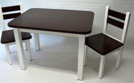 Stůl a dvě židličky ST1 - wenge