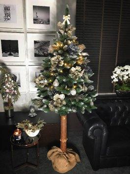 Vánoční stromek umělý s přírodním kmenem 160 cm